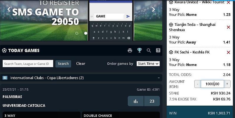 Free sure  bet tips today screenshot - 22nd July.JPG