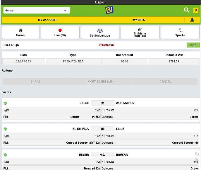 Won Fixed matches screenshot 22nd July1.JPG