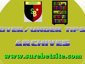Over 2.5 Goals and Under 2.5 Goals Tips Archives April 2021