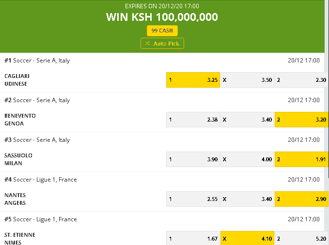 Betika Grand jackpot predictions this weekend - screenshot