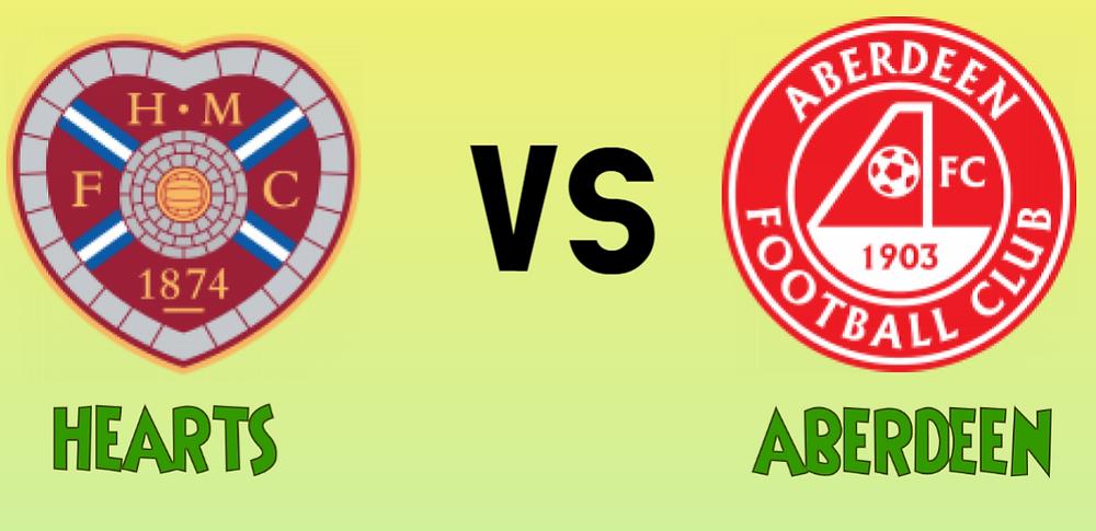 Hearts Vs Aberdeen mega jackpot predictions - logos