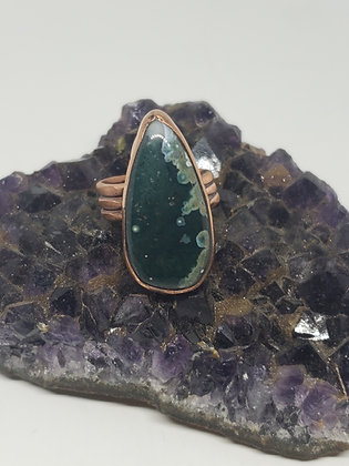 Moss Agate Ring size 6