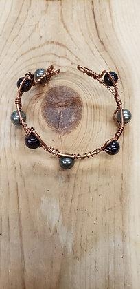 Garnet and Pyrite Bracelet