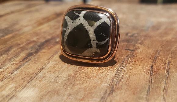 Black Septarian Ring size 10.5