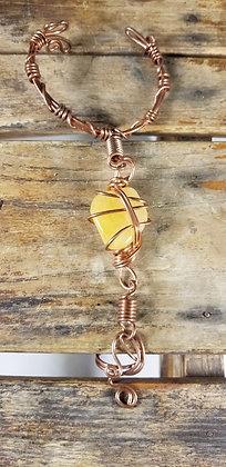 Yellow Calcite Ring Bracelet