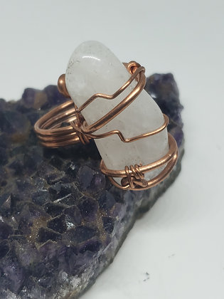 Quartz Wirewrapped Ring size 9