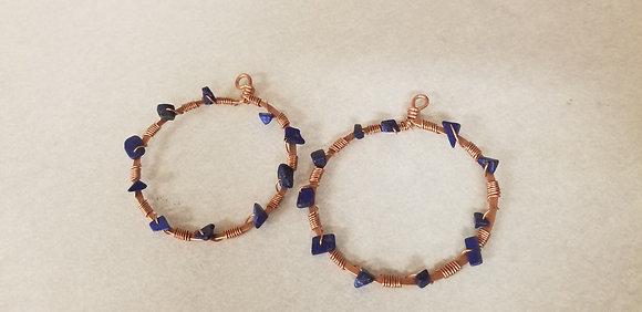 Lapiz Lazuli Hoop Earrings