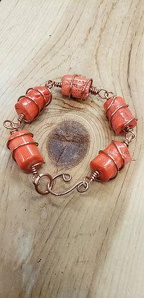 Red Coral Link Bracelet 3