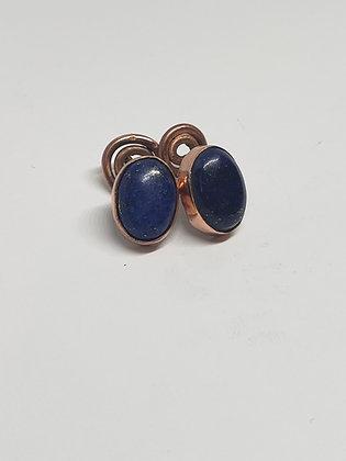 Lapiz Lazuli Copper Cuff Links.