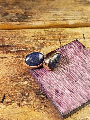Lapiz Lazuli Studs set in Copper