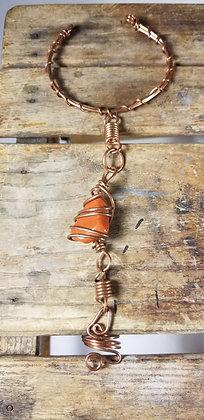 Red Jasper Ring Bracelet