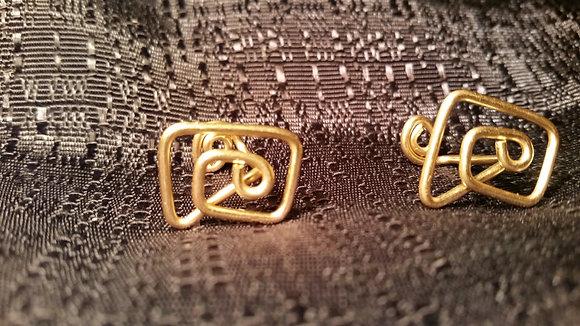 Brass Cuff Links