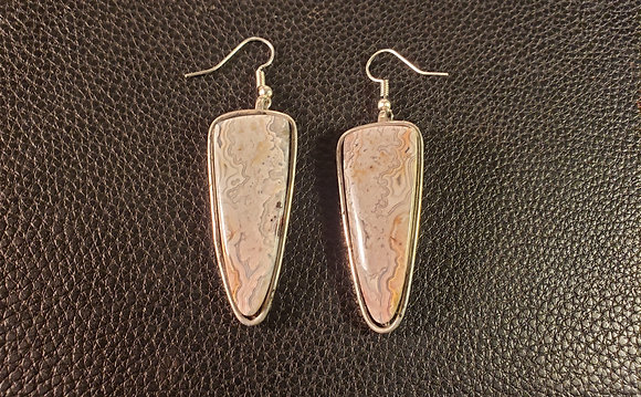 Sterling Silver Crazy Lace Earrings