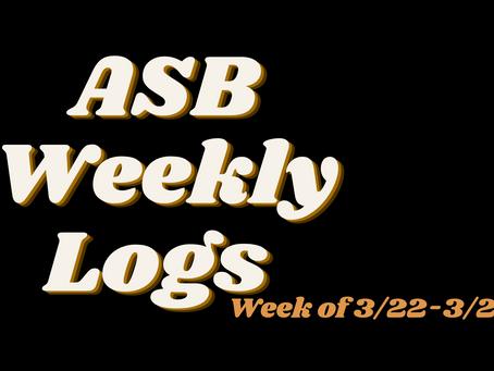 ASB LOGS (3/26)