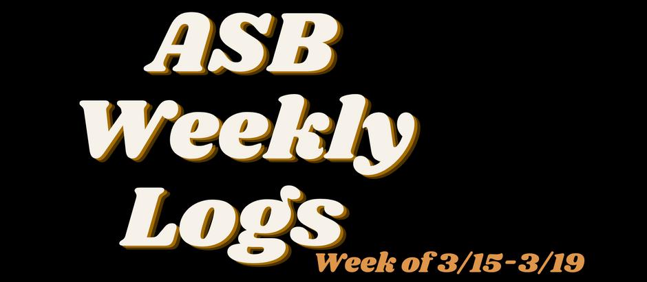 ASB LOGS (3/19)