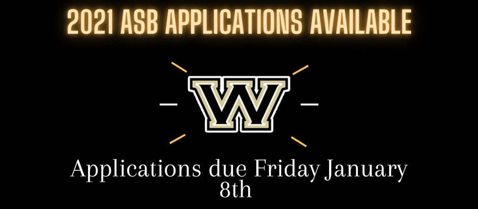 2021 ASB Applications are Available!