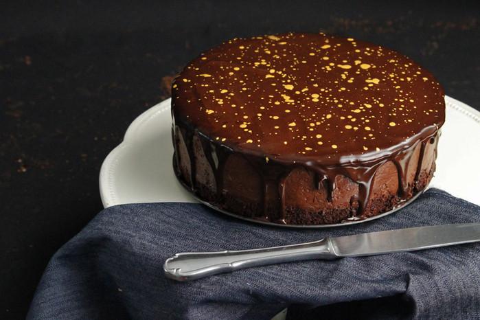 Çikolata Muslu Muzlu Pasta