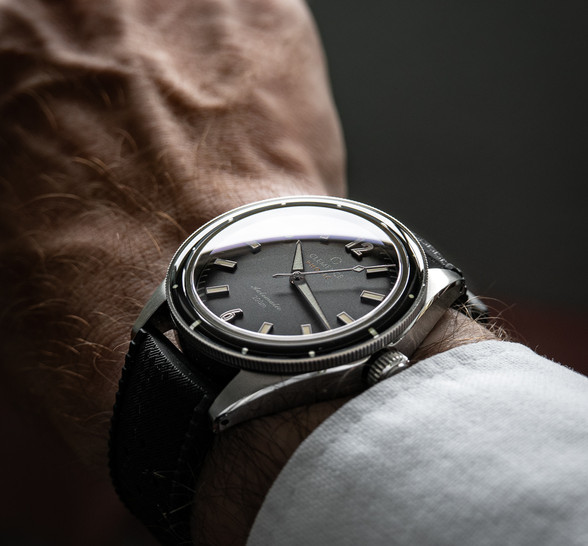Clemence Photic Diver with Abyss Black dial and silver hands and markers
