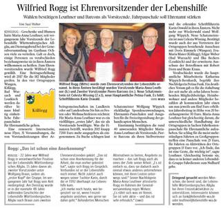 Wilfried Rogg ist Ehrenvorsitzender der Lebenshilfe