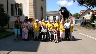 Wir von der Leutkircher Lebenshilfegruppe waren zu Gast im Polizeirevier.