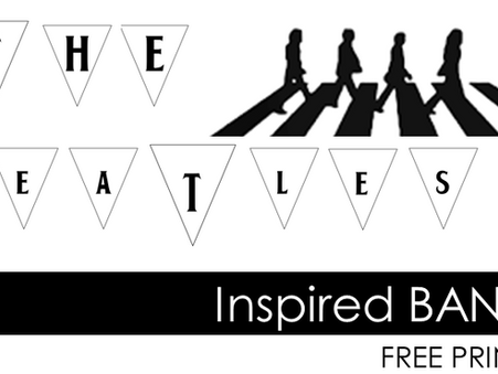 FREE PRINTABLES : The Beatles inspired banner template