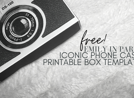 Free Printable Box Template - Emily in Paris'  Iconic Phone Case