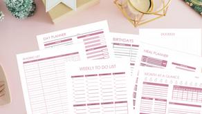 Planner Bundle Free Printables in Mauve