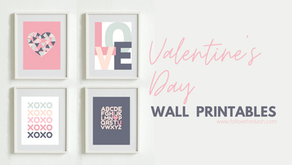Valentine's Day Wall Art - Free Printable