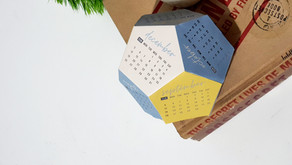 Dodecahedron 3D Desk Calendar Free Printable