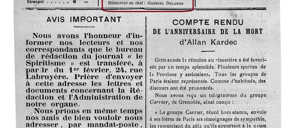 Discurso do Sr. Auzanneau no aniversário da morte de Kardec em 1890