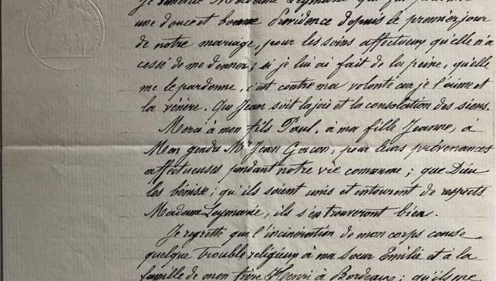 Manuscrito: As últimas vontades de Leymarie
