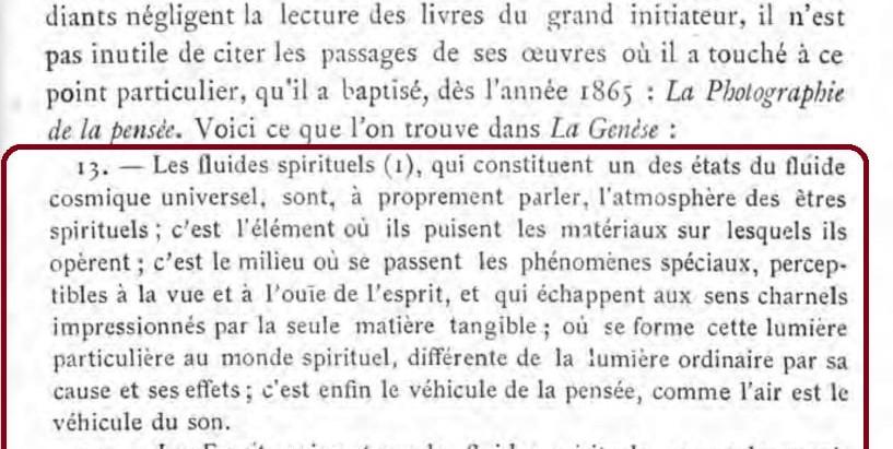 A edição de A Gênese adotada por Gabriel Delanne na Revue scientifique et morale du spiritisme