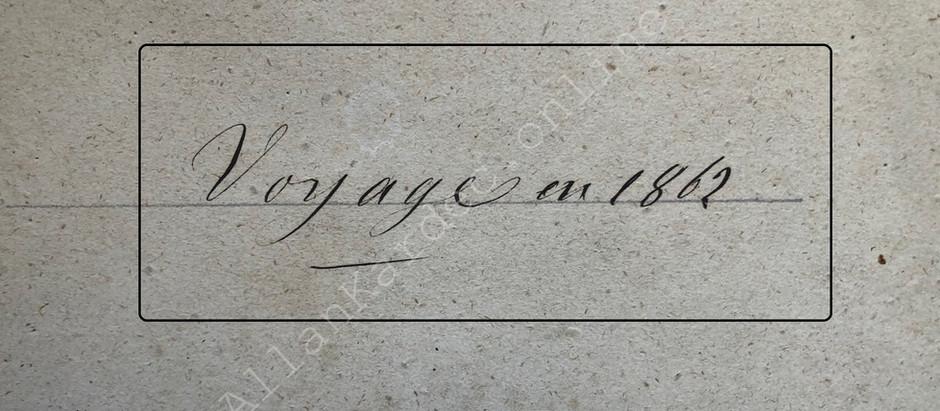 Caderno com as sessões manuscritas por Allan Kardec, realizadas na Viagem Espírita de 1862