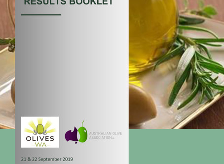 WA Olive Oil Awards Results 2019