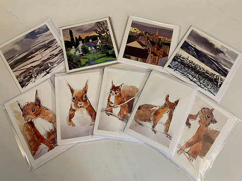 10 assorted greetings cards