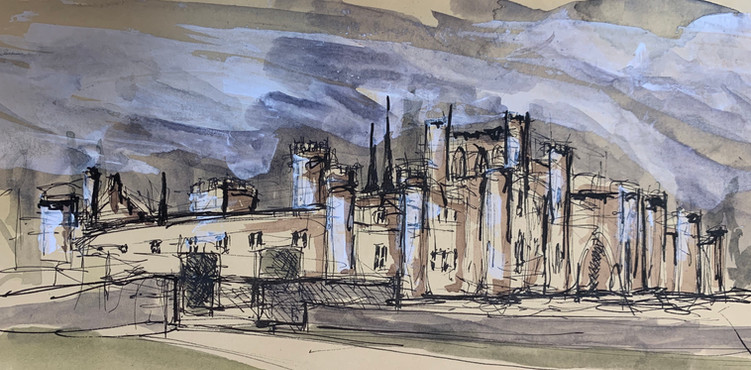 Lowther Castle sketch