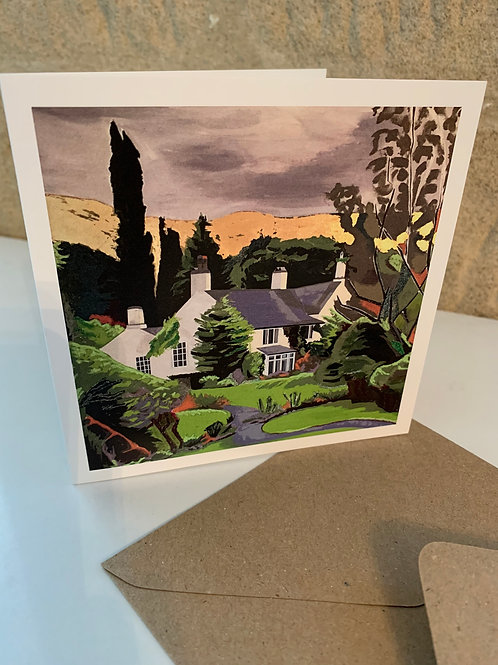 Greetings card Rydal Mount and Gardens
