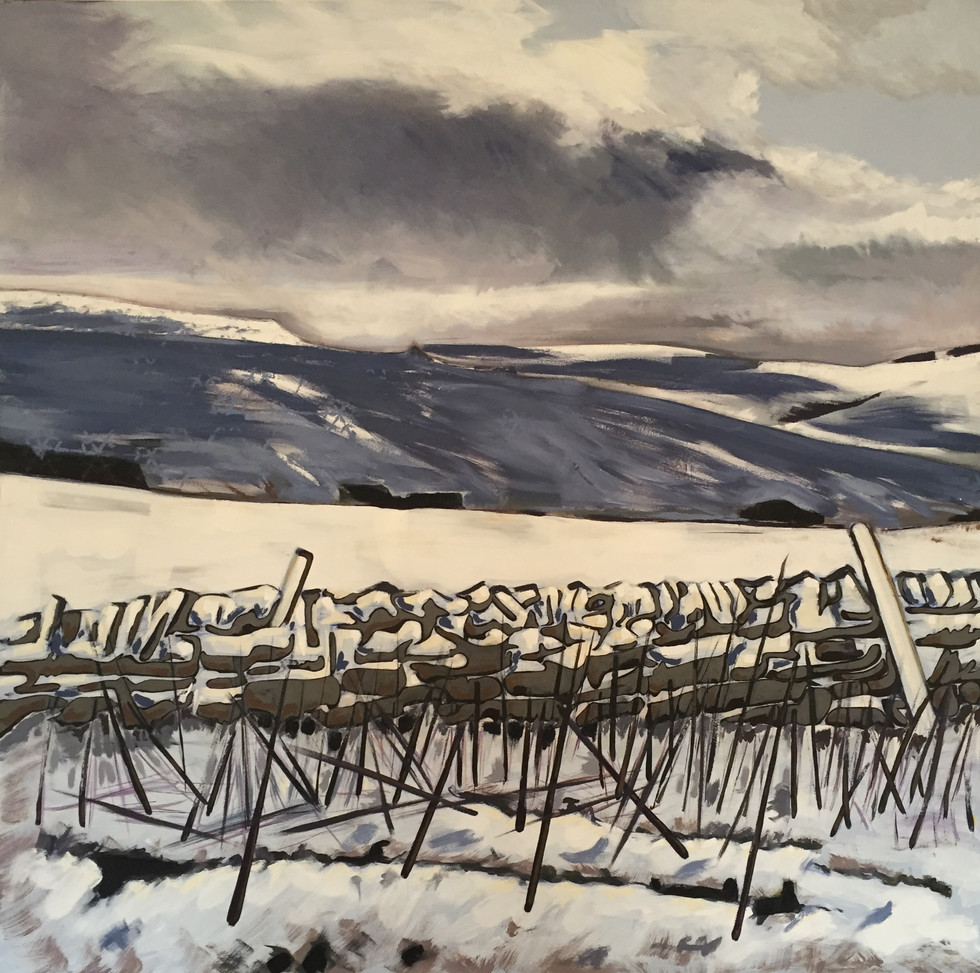 Road to Hartside in Winter.