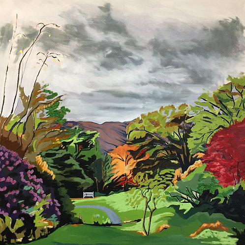 Rydal Mount Gardens with Bench Limited edition print