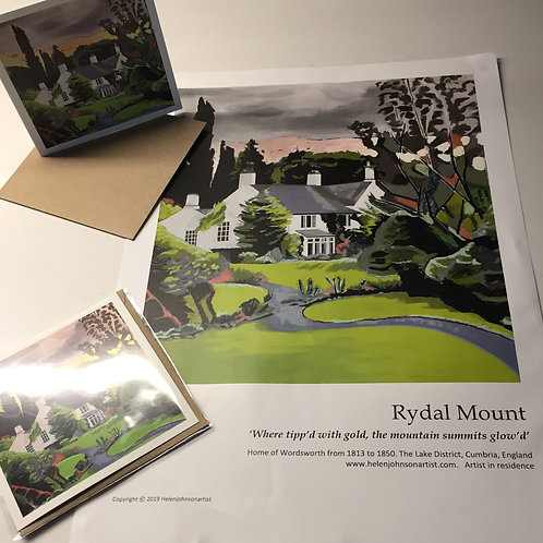 Rydal Mount and Gardens A3 Poster