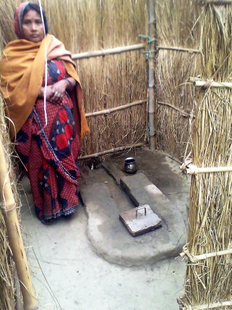 Toilet built as part of the Total Sanitation Campaign in Uttar Pradesh