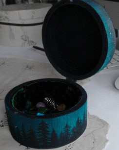 Hand-painted Forest box