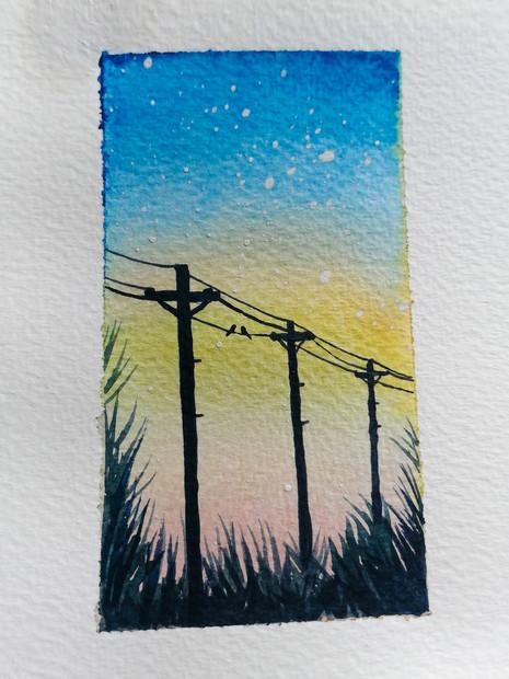 watercolour postcard
