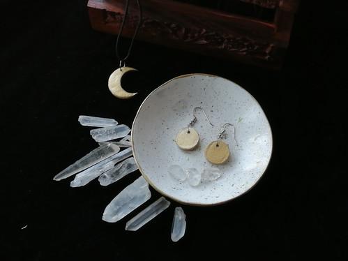 Clay Jewellery: Moon