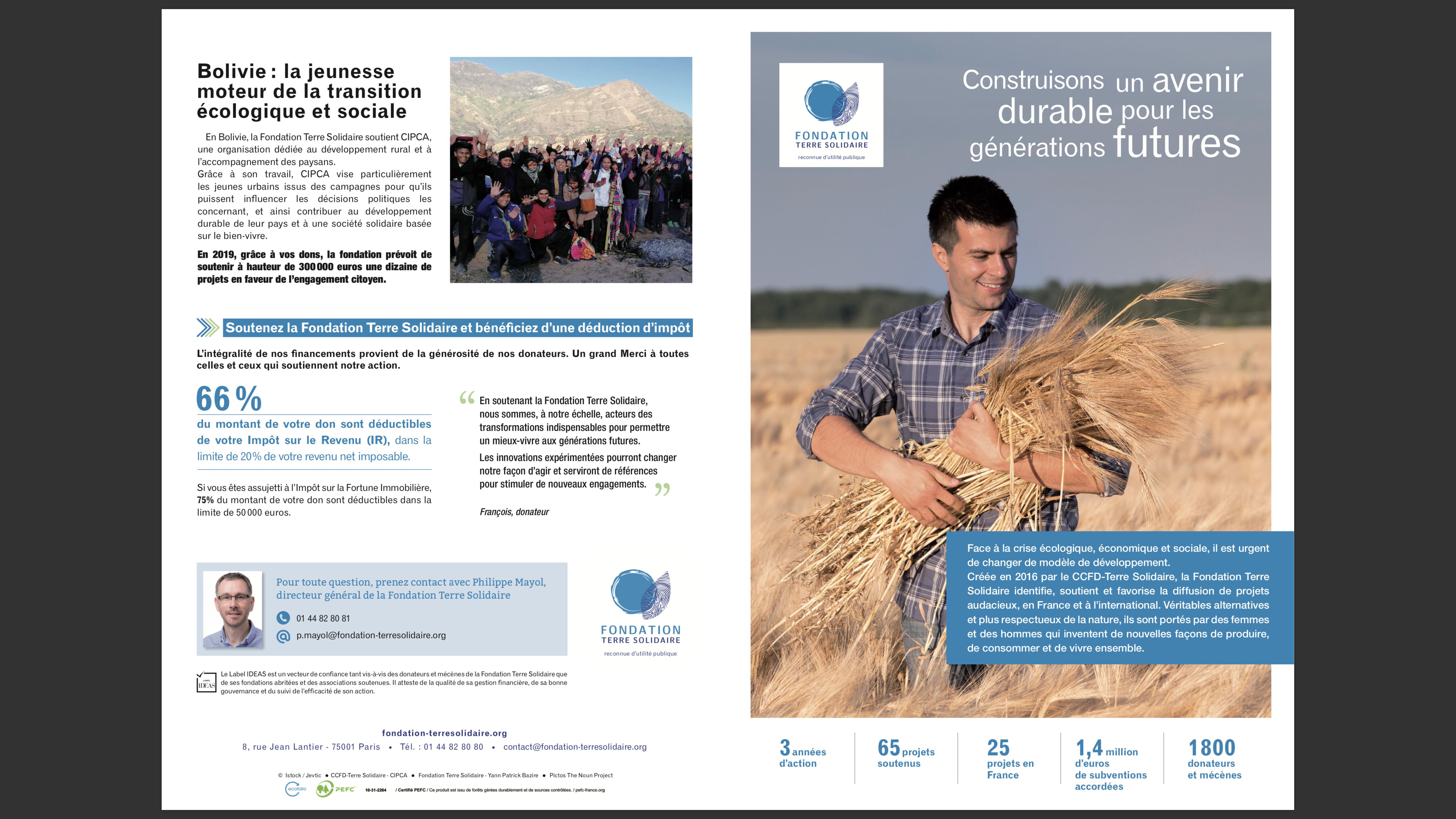 Fondation Terre Solidaire_dépliant