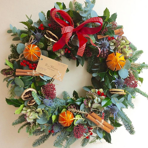 Natural Wreath with bow