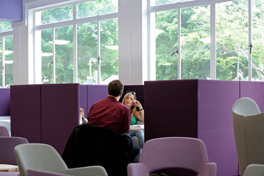 student accommodation, student residence, halls of residence, student campus, university, interiors, public space, interior space, communal space, common room, meeting space, library, students