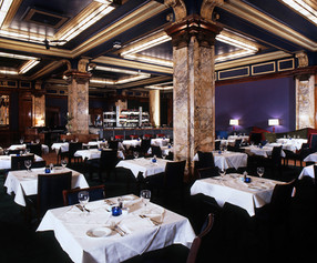 interiors, hotel, hotel interiors, public space, commercial, restaurant, dining room, fine dinning, atlantic bar and grill, atlantic bar, london, private room