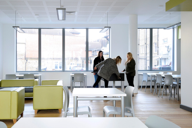 student accommodation, student residence, halls of residence, student campus, university, interiors, public space, interior space, communal space, common room, students