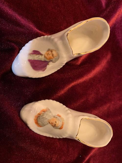 George and Martha Washington  Hand-Painted Shoes